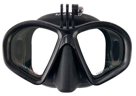freedive mask with gopro mount