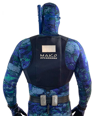 tuck bungie under your belt to keep weight vest in place while inverted